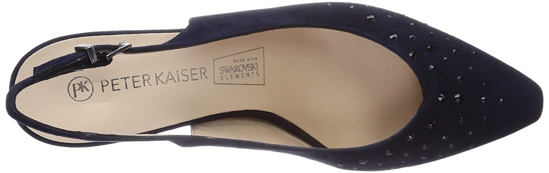 Peter Kaiser Womens Meggy Slingback Court Shoes Blue Size  7.5   Amazon.co.uk  Shoes   Bags e65ba9409b