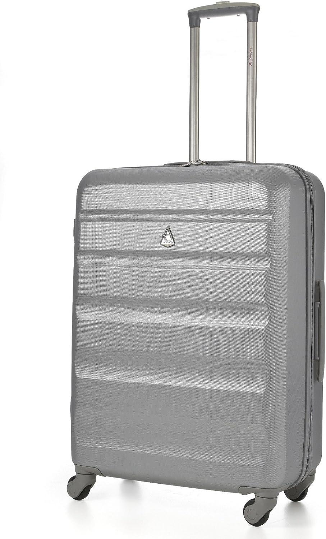 Aerolite ABS Equipaje Maleta rígida Ligera con 4 Ruedas 69cm (Plateado)