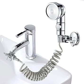 Amazon.com: ZCONIEY Sink Bathtub Faucet Sprayer Attachment Hair