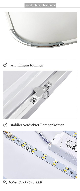 12W LED Regulable Ultraslim Moderno Lámpara de techo dormitorio Cocina Piso Salón Lámpara de pared Lámpara Ahorro De Energía Luz: Amazon.es: Iluminación