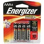 Energizer Max Alkaline AAA Batteries, 4 Count