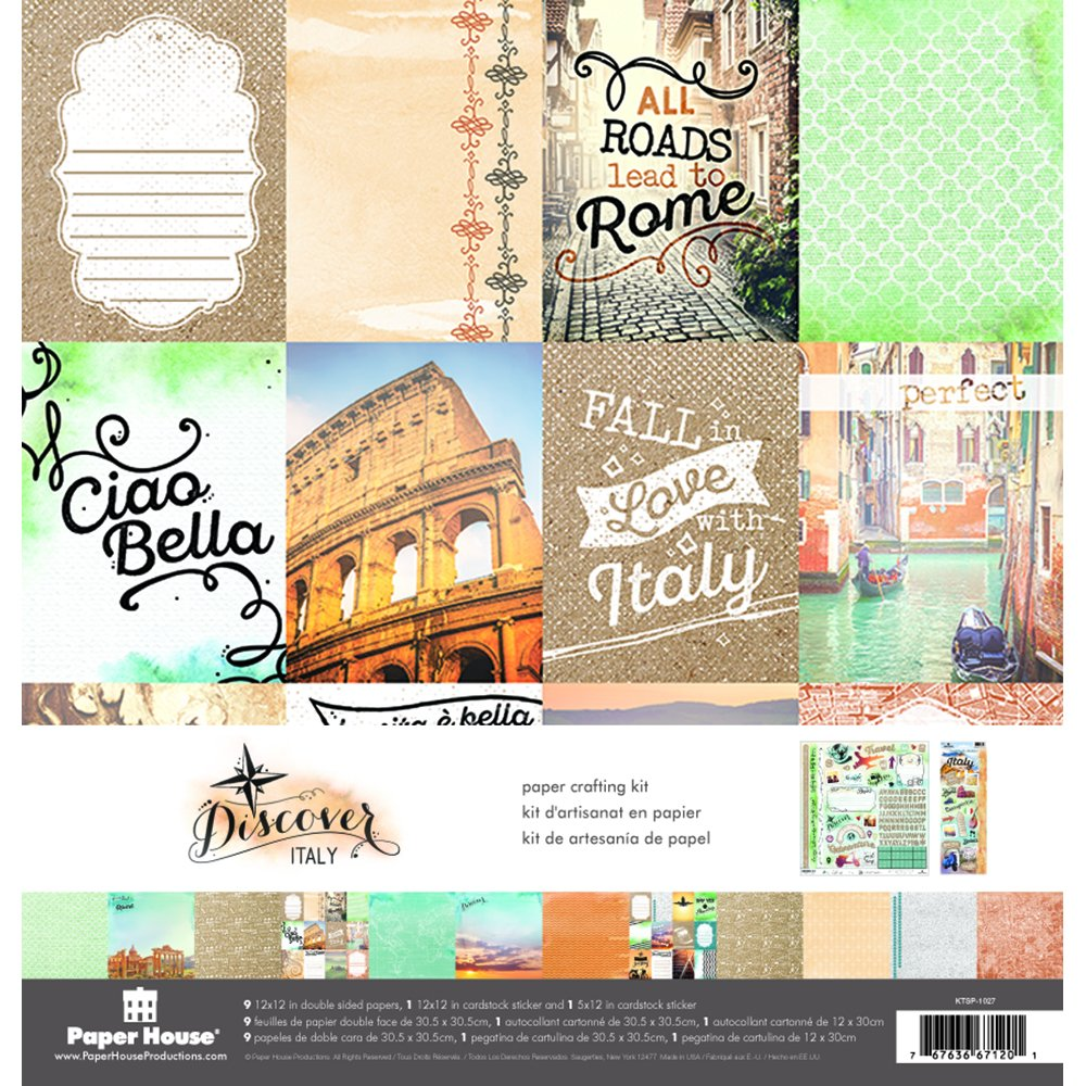 Paper House Productions KTSP-1038E Italy Page Kits (Pack of 3)