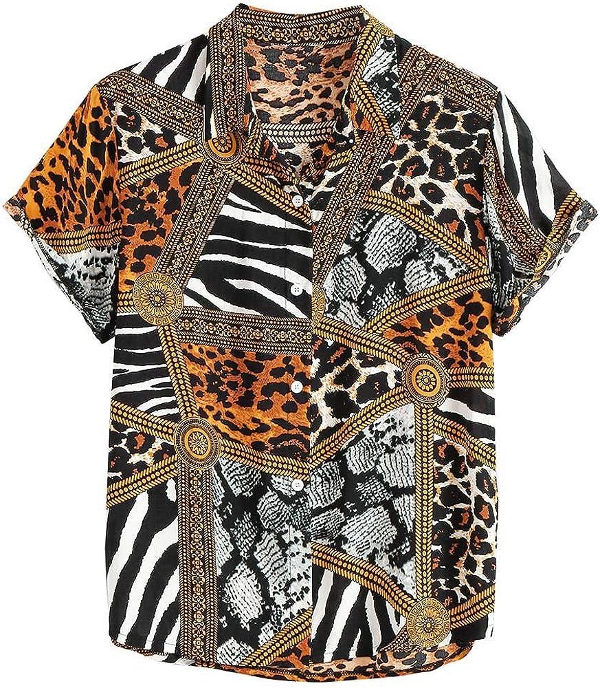 Overdose Camisa Suelta para Hombre Top de Manga Corta con Estampado Vintage Camisa Deportiva Suelta de Voleibol de Playa Cool 2019: Amazon.es: Ropa y accesorios