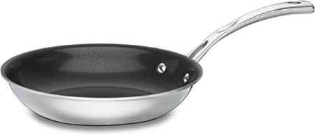 Cuisinart FCT22-20NS French Classic Tri-Ply Stainless 8-Inch Nonstick Skillet