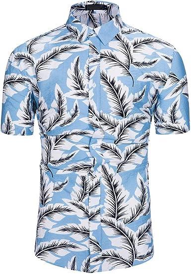 Cocoty store 2019 Camisa Hawaiana de Manga Corta para