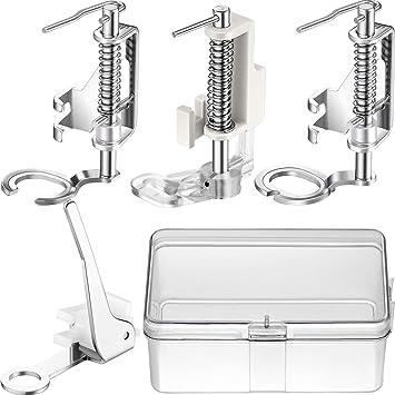 4 Piezas Prensatelas de Máquina de Costura Zurcidura de Metal Grandes Adecuados para Máquinas de Coser