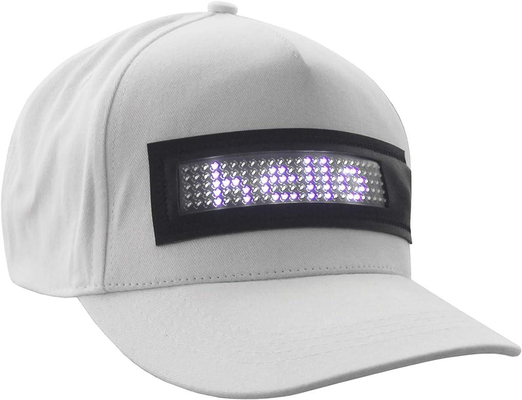 Sidiou Group Sombrero de Pantalla LED Gorra Brillante Sombrero de ...