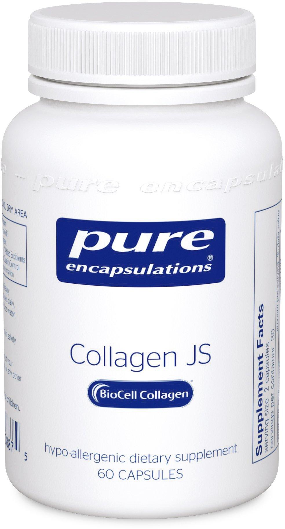 Pure Encapsulations - Collagen JS - Hypoallergenic Multi-Molecule Collagen Complex - 60 Capsules
