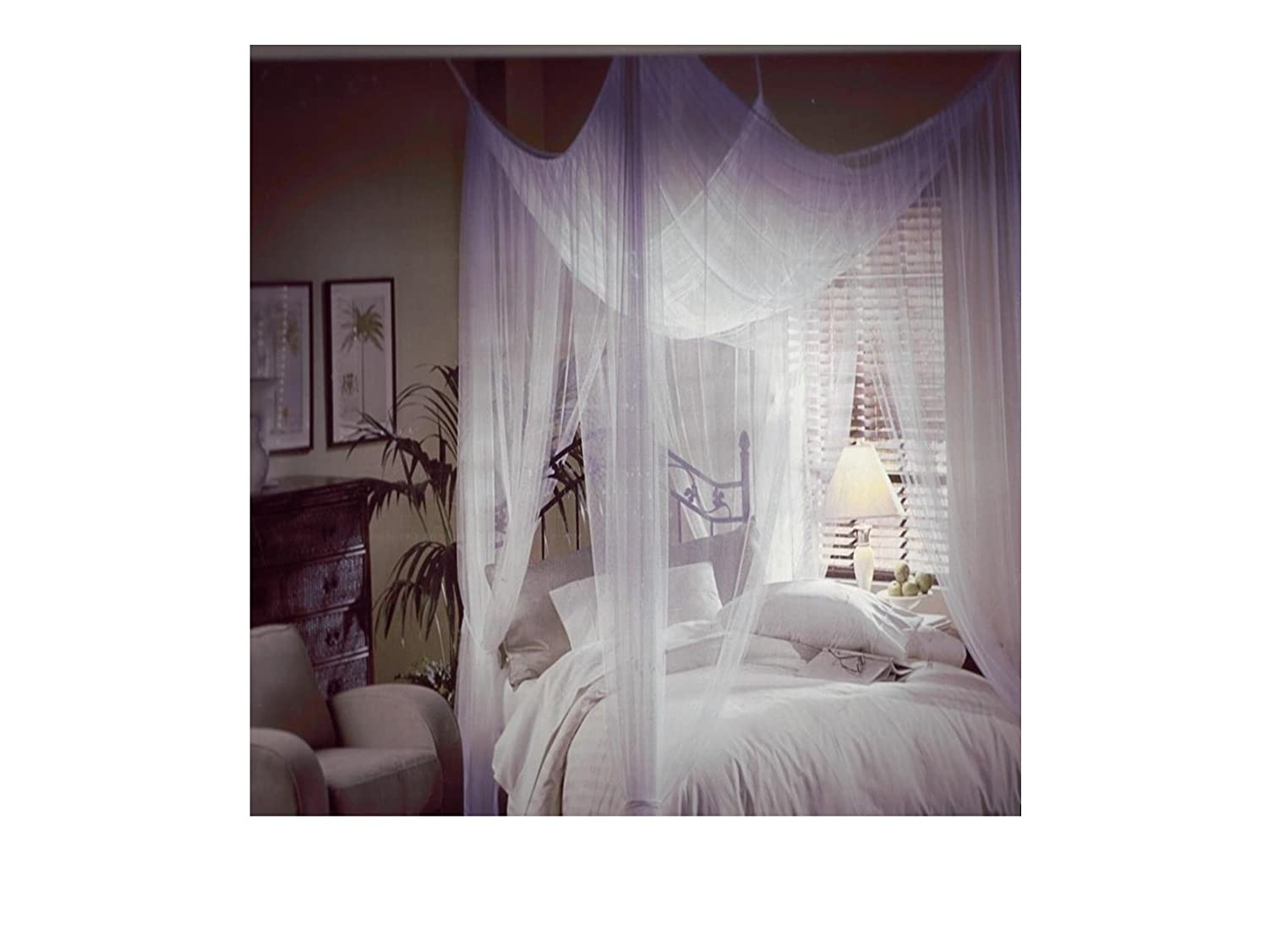 sc 1 st  Amazon.com & Amazon.com: Mombasa Majesty Classic Bed Canopy White: Home u0026 Kitchen