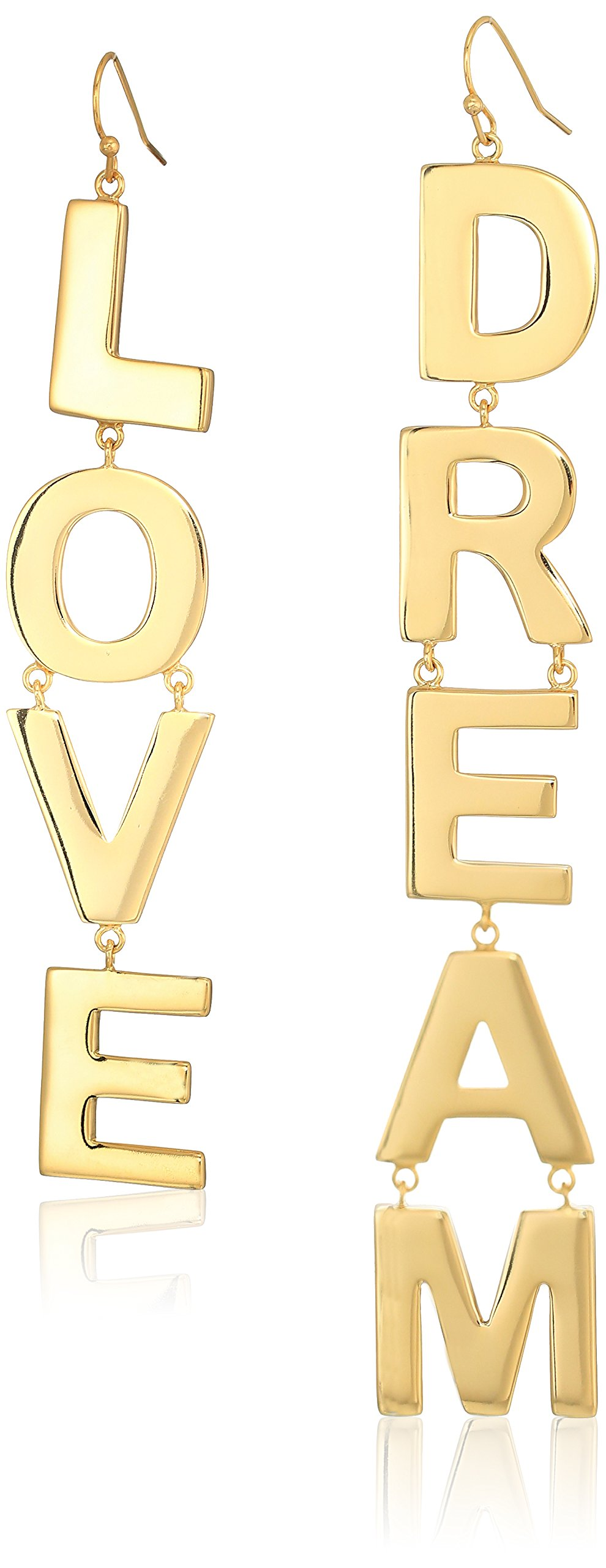 Jules Smith Womens Love & Dream Drop Earrings Set, Gold, One Size