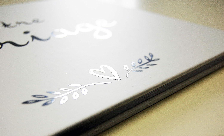 Uttscheid Blu Libro Ospiti : Matrimonio Copertura del Mate 100 Pagine numerate qualit/à Premium