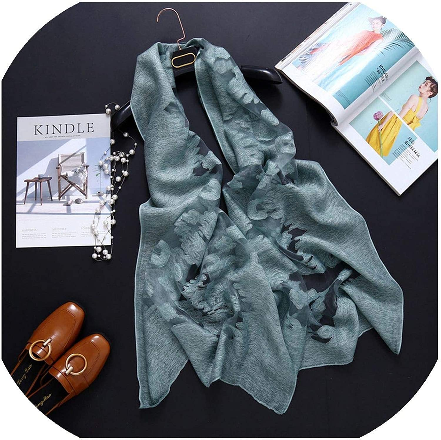 Women Scarf Lace Hollow...