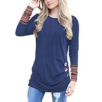 Lylafairy Donna Maniche Lunghe T Shirt Casual Camicia Maglietta Felpa