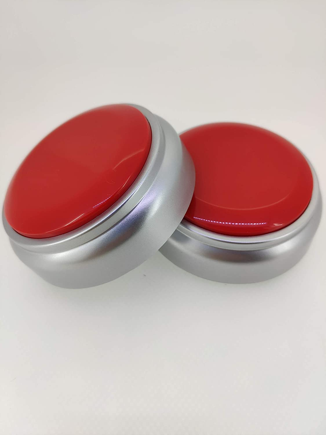 Ltd. Recordable Talking Button with Good Sound Quality Shenzhen Sight Electronic Trading Co Red+Silver Record Sound Button for Gift Toys Education Neutral Voice Recorder Button 30 Second