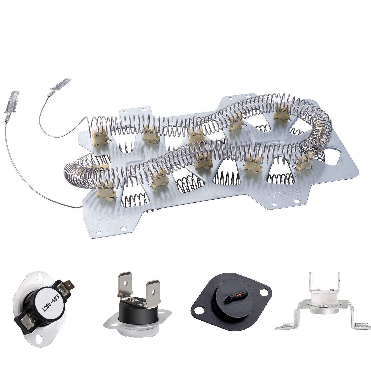 Dryer Repair Kit Compatible with Samsung Dryer Heating Element DC47-00019A, Thermostat DC47-00018A, Thermal Cut-Off Fuse DC47-00016A and DC96-00887A, Thermistor DC32-00007A