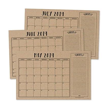 Calendars, Planners & Cards 2019 New Year Calendar 2019 Fashion Simple Lovely Mini Table Calendars Vintage Kraft Paper Desk Calendar Office School Supply Office & School Supplies