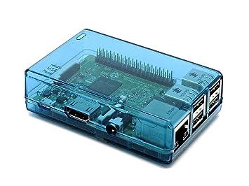 SB azul cerrada carcasa para Raspberry Pi 2 modelo B y ...