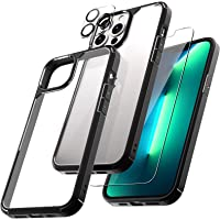 TAURI [3 in 1] Defender Designed for iPhone 13 Pro Max Case 6.7 Inch, with 2 Pack Tempered Glass Screen Protector + 2…