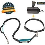 Durable Hands Free Dog Leash for Walking Hiking or Exercising With Your Pet - Adjustable Waist Belt - Dual Handles - Attachable Poop Bag Dispenser - Dog Training and Caring EBOOKS