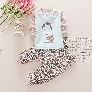 KINDOYO Lindo Animal Impresión Pijamas Set Para Unisexo Niño ...