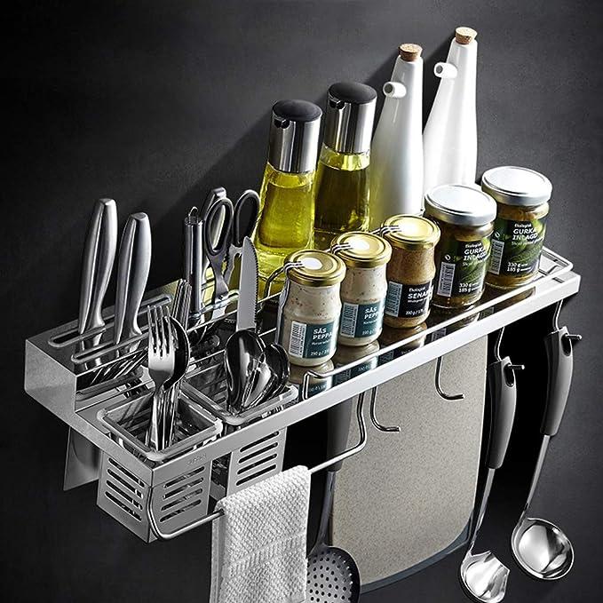 LYN Rack Kitchen 304 Acero Inoxidable Portaherramientas Soporte de ...