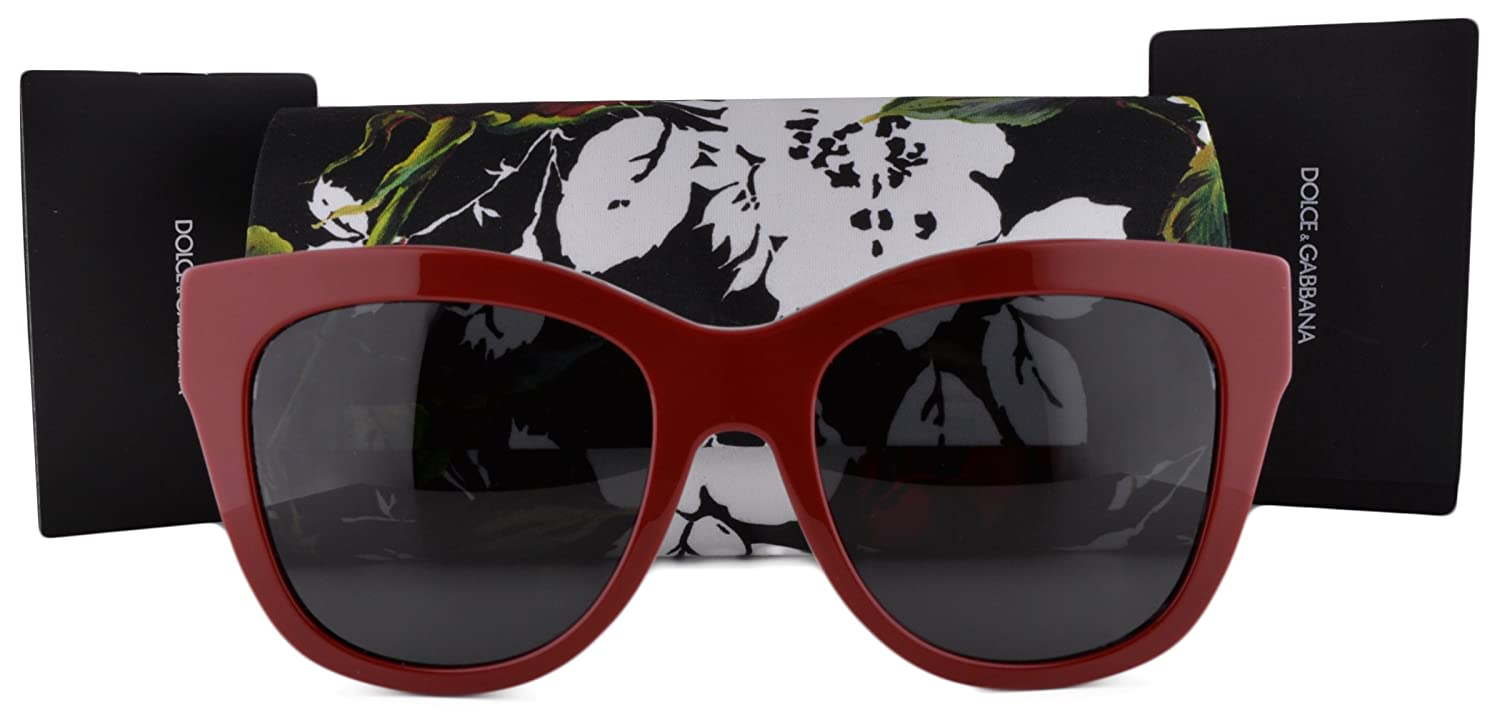 fad1f84a24a5 Dolce   Gabbana DG4270 Sunglasses Top Red Print Rose w Gray Lens 302087 For  Women  Amazon.co.uk  Clothing