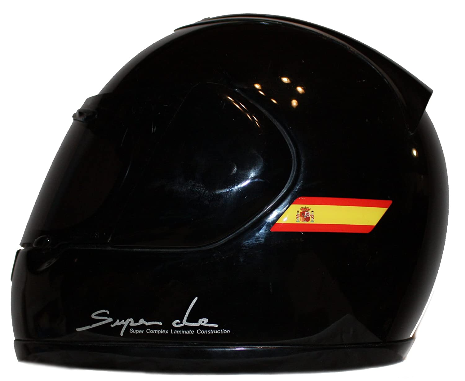 Helmet Spain Spanish Flags 3D Decals Domed Set Left and Right Side sticker MioVespa collection