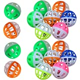 MMdex 18-Pieces Pet Cat Kitten Play Balls With Jingle Bell Pounce Chase Rattle Toy