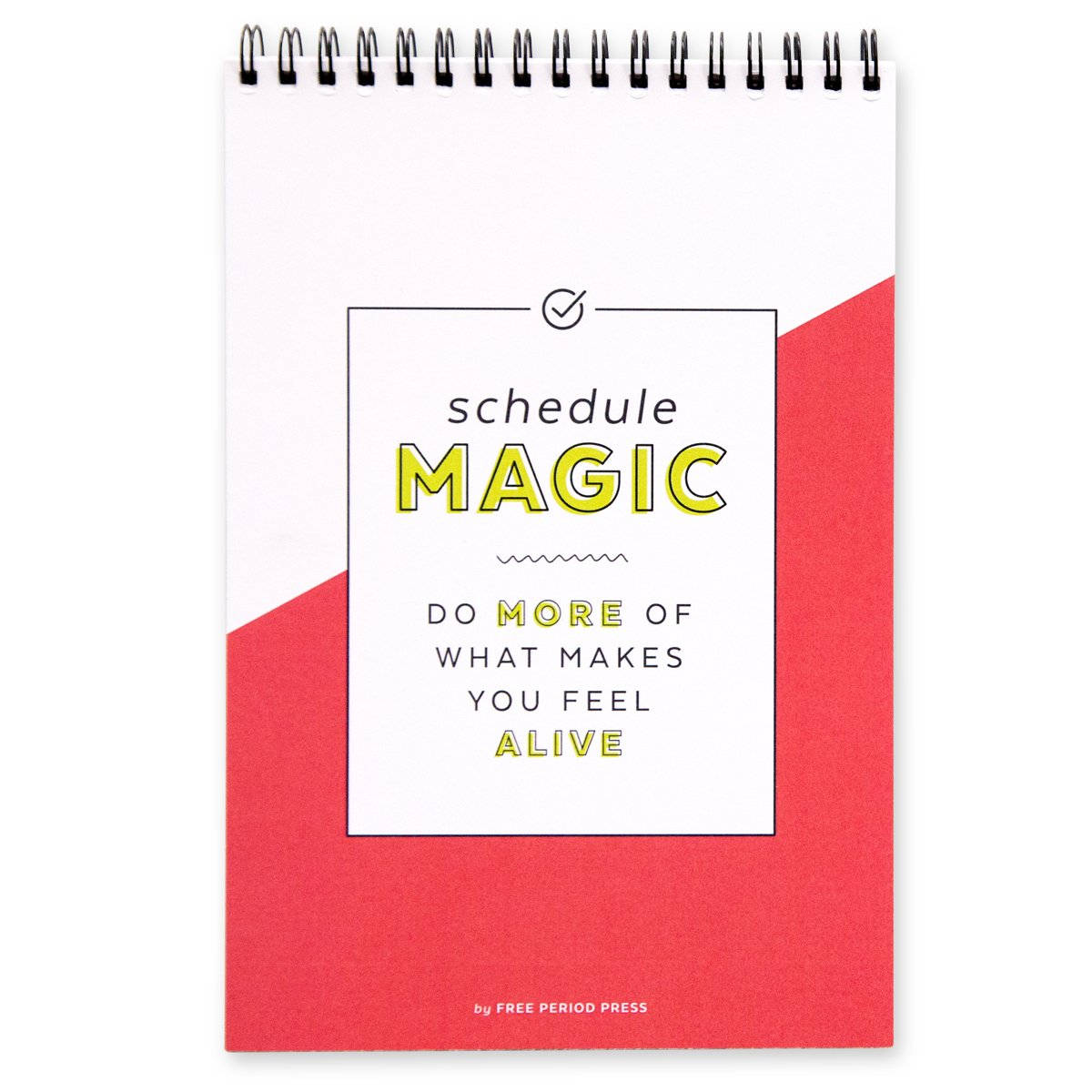 Schedule Magic Daily Planner & To Do List Notebook, 140 Spiral Bound Pages, Free Period Press