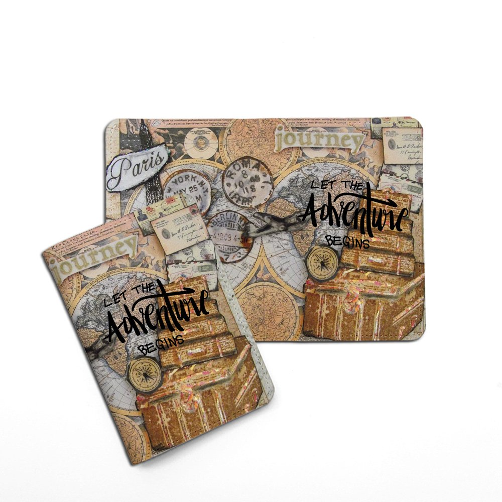 Let The Adventure Begins World Travel Passport Holder Customized Passport Covers Passport Wallet_Emerishop (PPLA41) by Emerishop (Image #3)