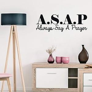 Vinyl Wall Art Decal - ASAP. Always Say A Prayer - 10