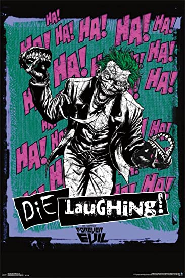 6b7e7487a7e5f Amazon.com : Laminated Joker - Die Laughing Poster 24 x 36in ...