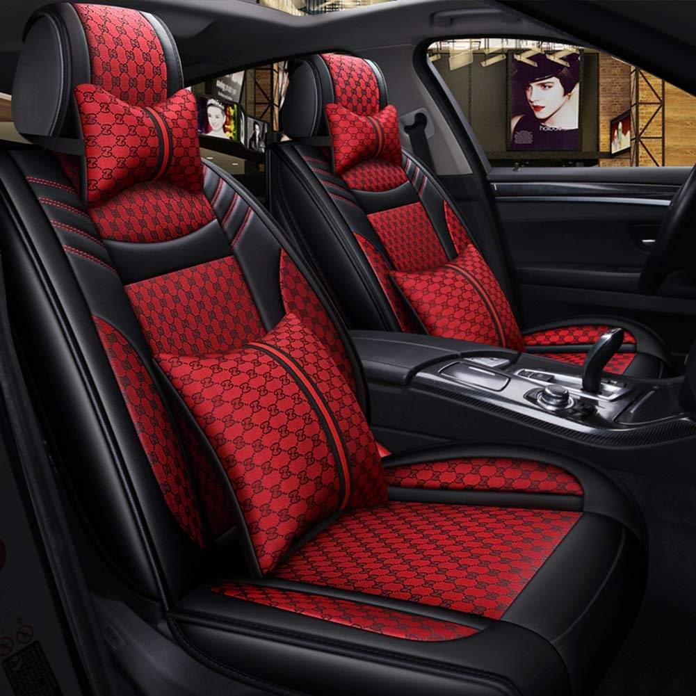 S-G2 Black Gray Universal Car Seat Covers Set for HONDA JAZZ 1 2 3 4 I II III IV