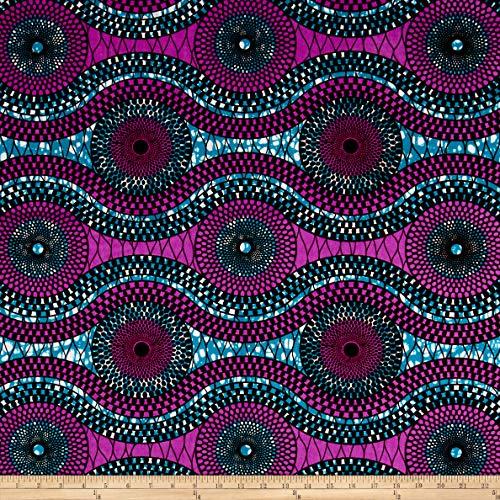 Sonna USA Supreme African Wax Print 6 Yard Purple