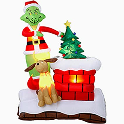 6 dr seuss how the grinch stole christmas airblown inflatable decor 18250 - How The Grinch Stole Christmas Decorations