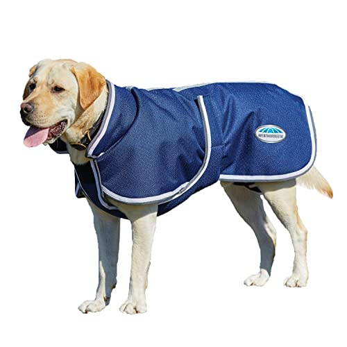 "Weatherbeeta Parka 1200D Deluxe Dog Coat Navy/Grey/White 24"""