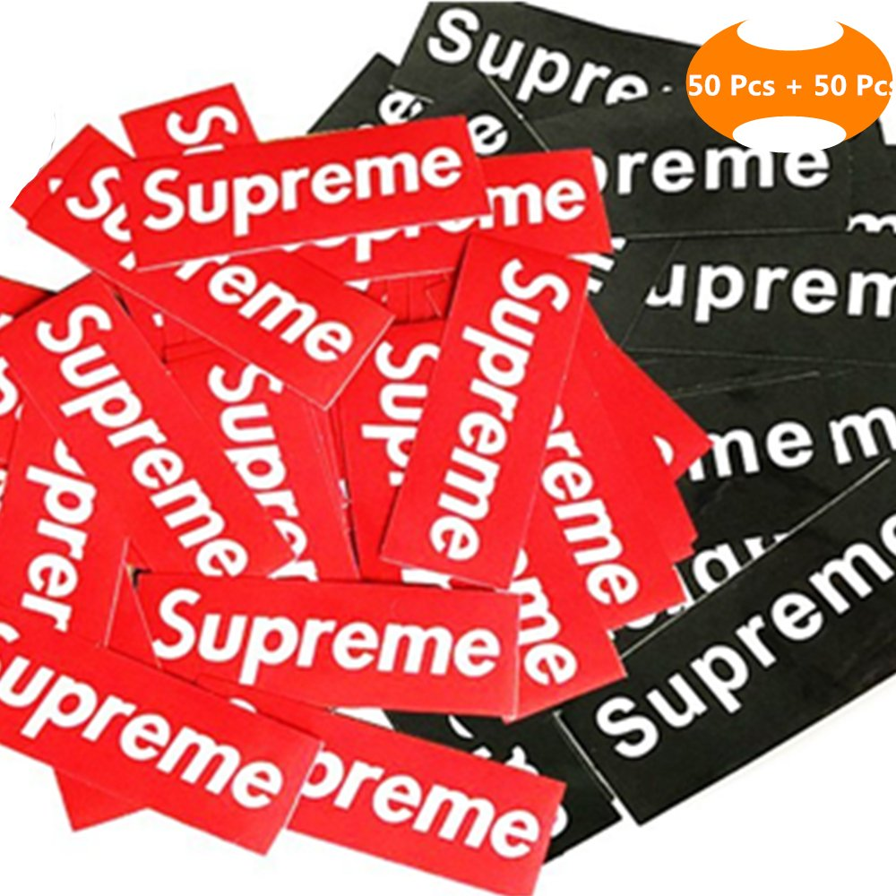 100 Pieces Supreme Stickers Waterproof And Oil Proof Sticker Backpack Car Skateboarding Laptop