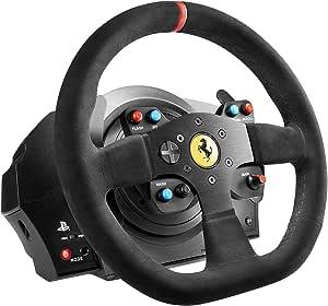 Thrustmaster 4160652 T300 Ferrari Integral Alcantara Edition Racing wheel 270° - 1080°, Paket med Ratt & Pedaler, Svart