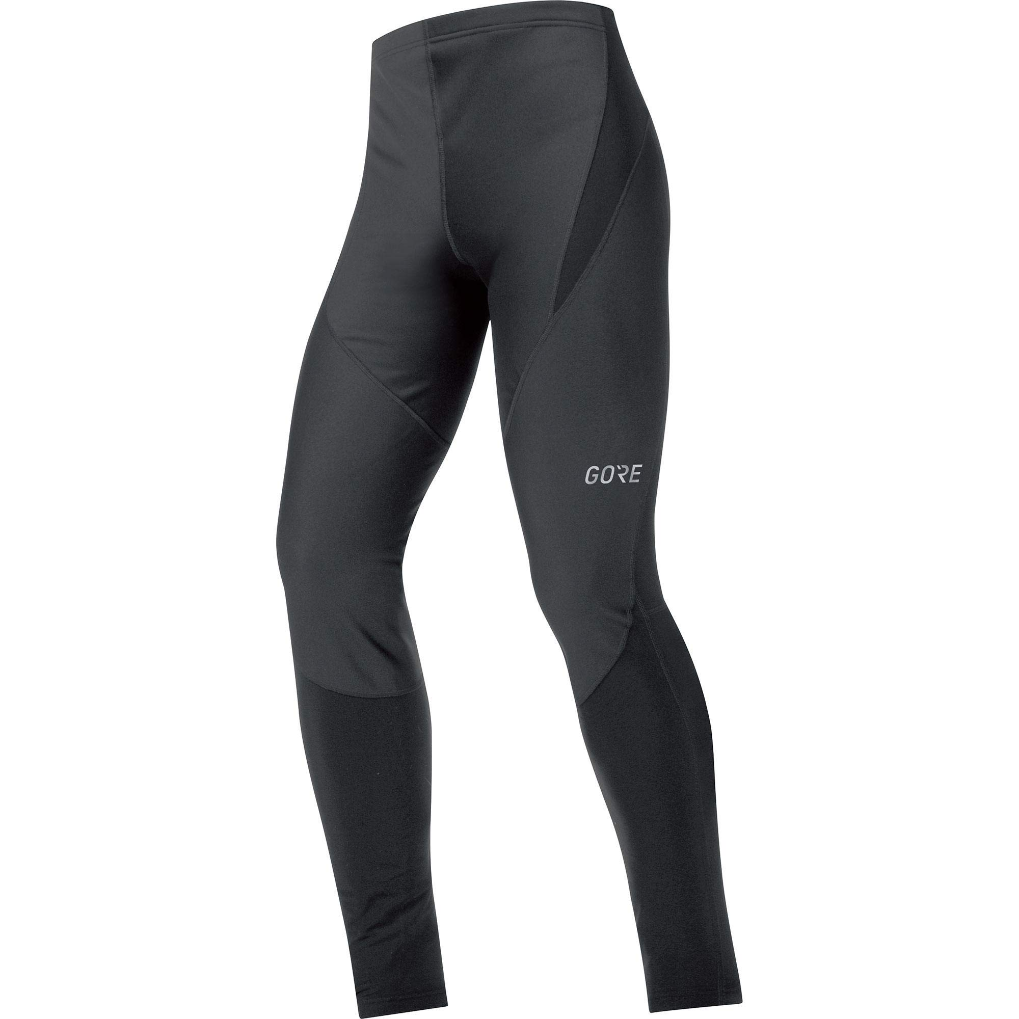 GORE WEAR Windproof Men's Cycling Tights, C3 Partial Gore Windstopper Tights, M, Black, 100407