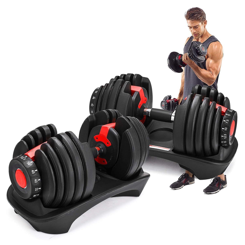 Bộ tạ tay điều chỉnh tập gym Lovshare 71U9uGu7zpL._SL1500_