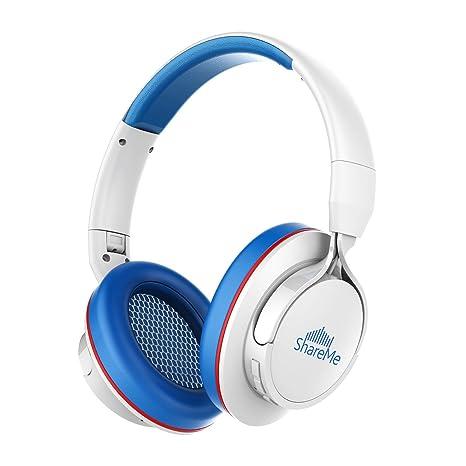 Auriculares Bluetooth, Mixcder Shareme 7 Cascos Inalámbricos con Micrófono Hi-Fi Deep Bass,
