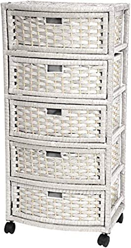 Editors' Choice: Oriental Furniture 37″ Natural Fiber Chest of Drawers
