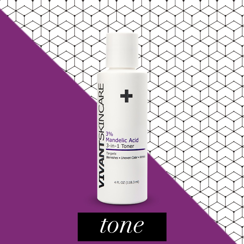 Vivant Skin Care 3% Mandelic Acid 3-In-1 Toner | Mandelic Acid, Lactic Acid, Acne-Aging, Hyperpigmentation, Corrector Serums | 4 Fluid Ounce by Vivant Skin Care