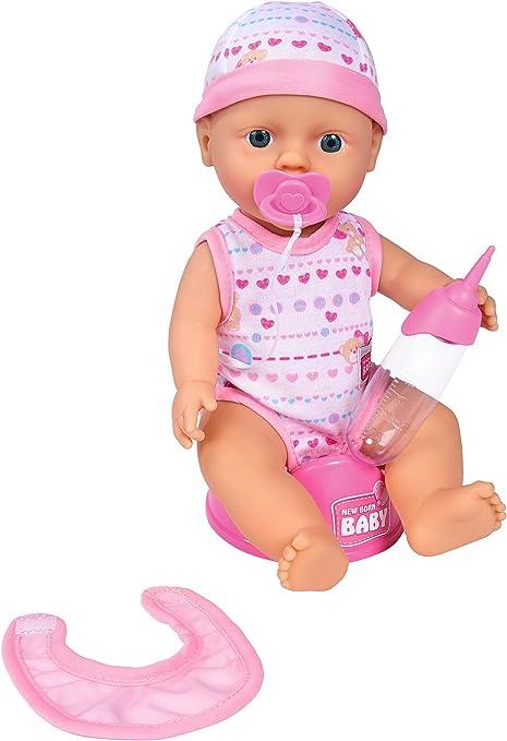 Simba New Born Baby Funktions Babypuppen Inklusive Zubehör 43 cm Puppen