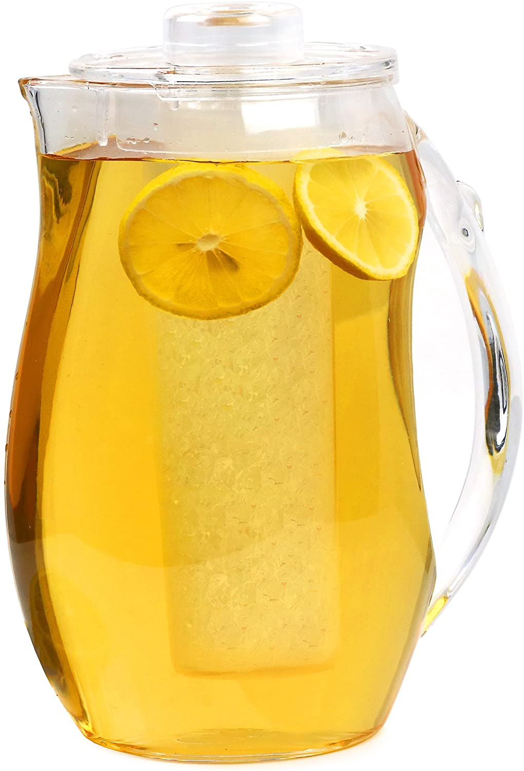Estilo Acrylic Fruit Infusion Pitcher with Ice Core 2 Liter (72 oz/2.1 quart)