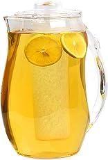 Estilo Acrylic Fruit Infusion Pitcher with Ice Core 2 Liter (72 oz/2.1 quart)