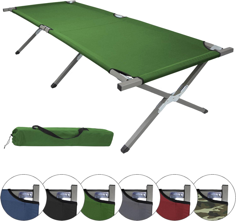 BB Sport Cama de Camping Plegable 190 x 64 x 41 cm