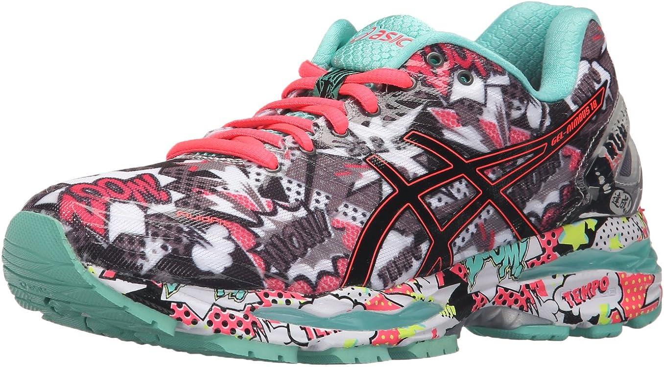 Asics Gel-Nimbus 18 - Nimbus para Mujer, Color Titanio, Blanco y Turquesa, Color Gris, Talla 39 EU: Amazon.es: Zapatos y complementos