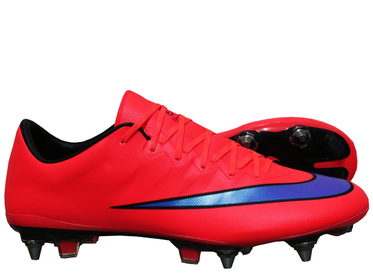 timeless design e7a8c 1083b Nike Mercurial Vapor X SG Pro Football Boots Cleats - Football Shoe Red   Amazon.co.uk  Sports   Outdoors