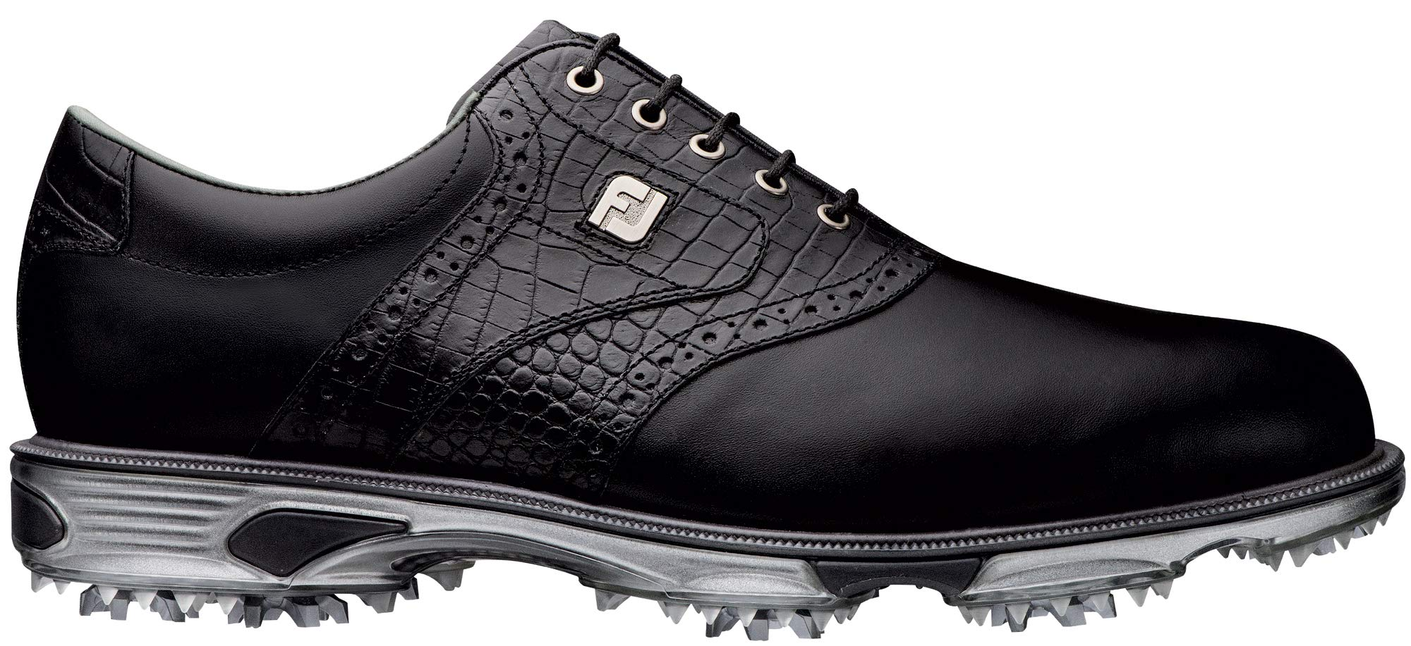 FootJoy Men's DryJoys Tour Golf Shoes Black 9.5 XW Croc, US by FootJoy